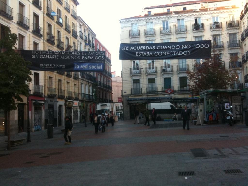 """Plaza de Chueca, promoción del filme """"The Social Network"""""""