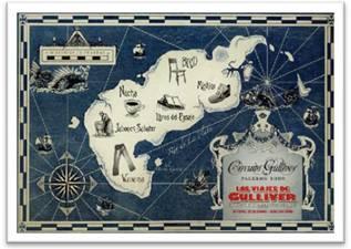 Postal del Circuito Gulliver