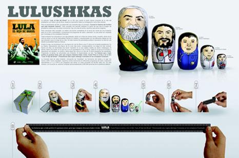 """Lulushkas, promoción de la película  """"Lula, el hijo del Brasil"""""""