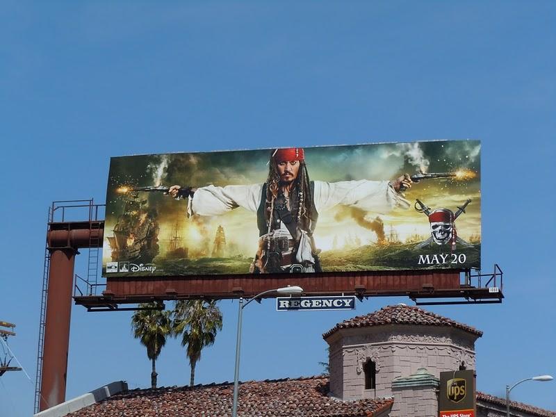Piratas del Caribe 4 Afiches en la calle USA