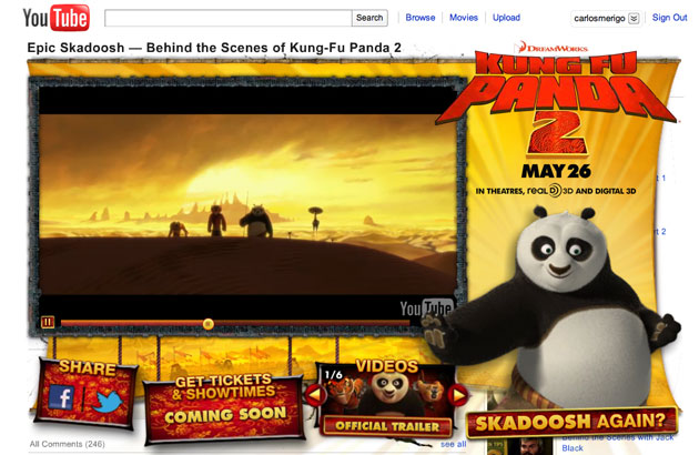 Kung Fu Panda 2 : Intervención en You Tube