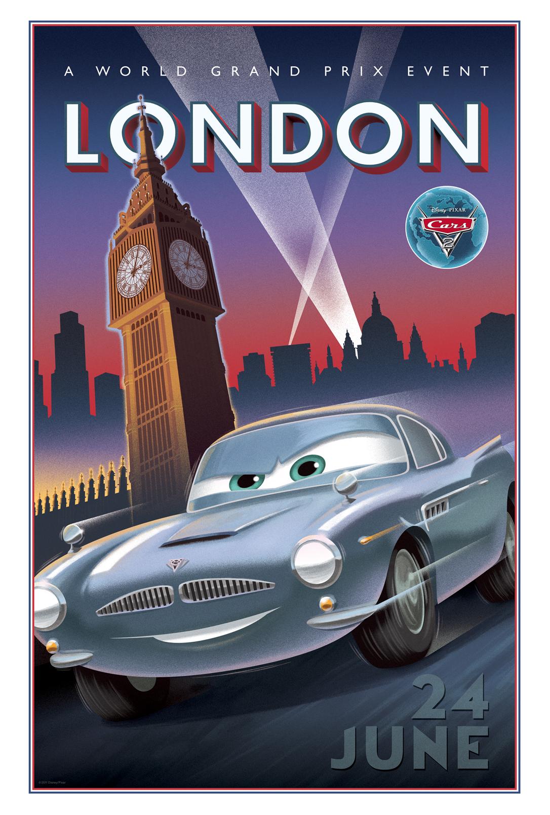 Cars 2 Poster Vintage London