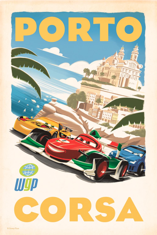 Cars 2 Poster Vintage Porto