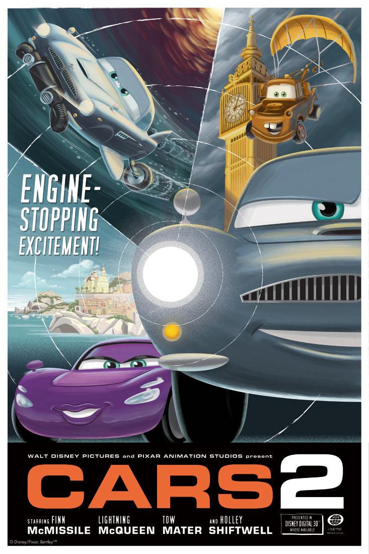 Cars 2 Poster Vintage