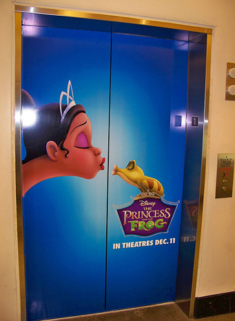 The Princess and the Frog Elevator Movie Marketing