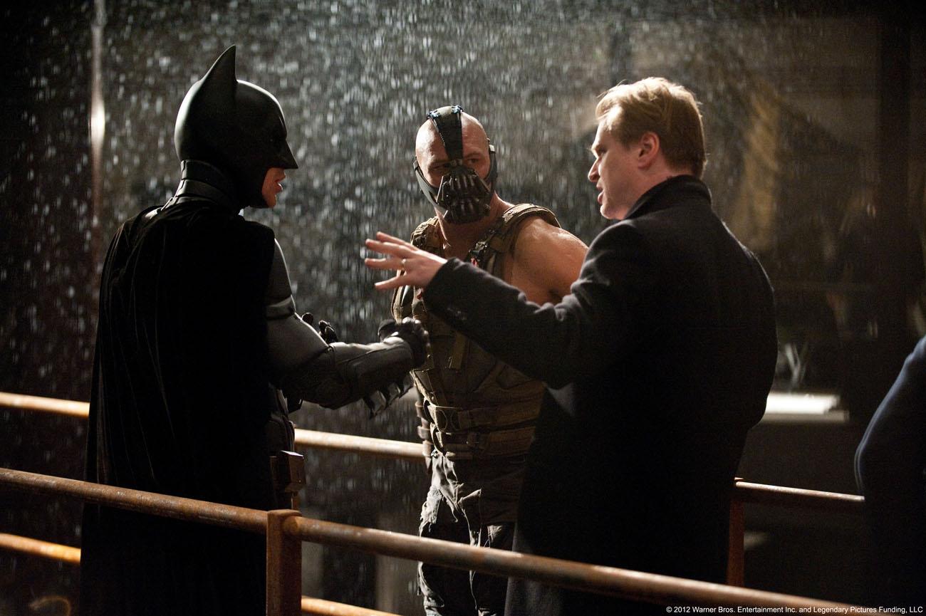 The Dark Knight Rises - Bale, Hardy y Nolan