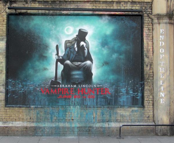 Street Art para promocionar Abraham Lincoln: Vampire Hunter