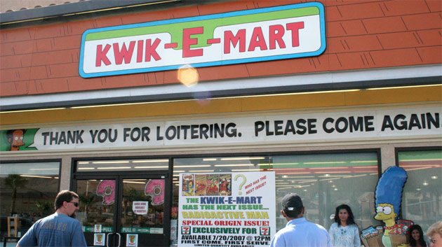 Kwik-E-Marts promo The Simpsons Movie