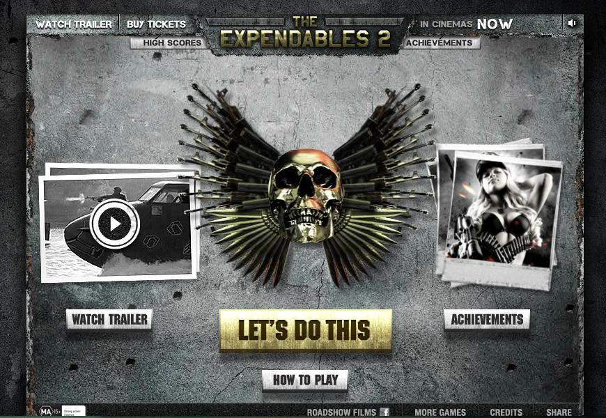 Juego online para promocionar The Expendables 2