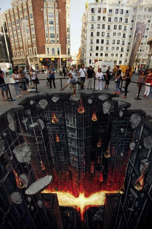 """Street Art en Madrid para promocionar El Caballero de la Noche Asciende"""""""