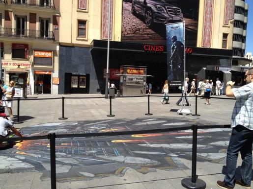 """Street Art en 3D para promocionar El Caballero de la Noche Asciende"""""""