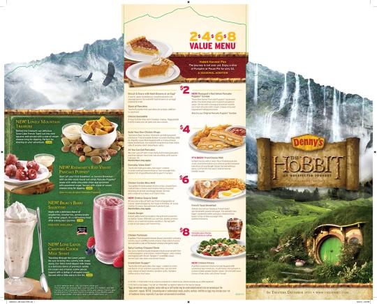 hobbit menu dennys