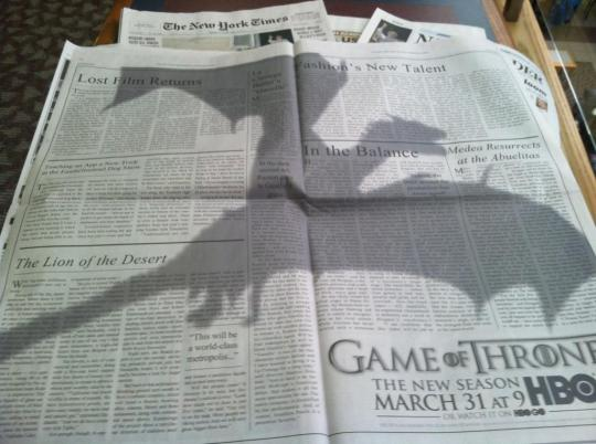 Ad Print Games of Thrones