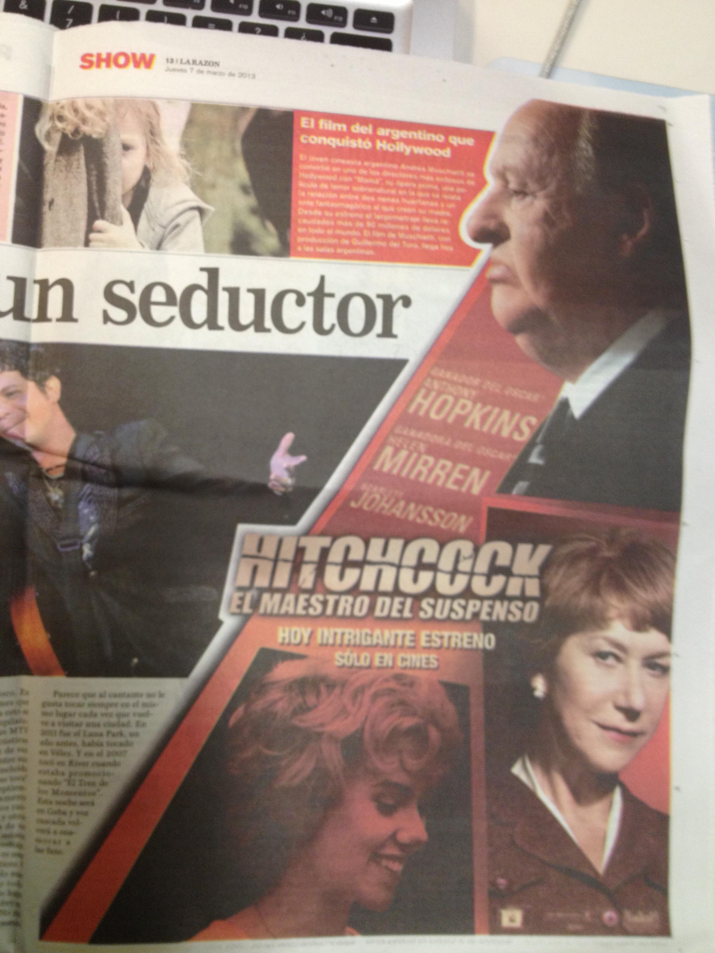 Hitchcock - aviso gráfico La Razón